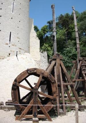Photo de la machine de guerre : Le Mangonneau à roue de carrier